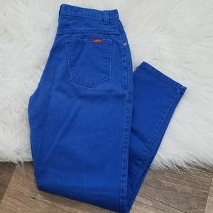 《510》Vintage Bonjour Blue High Waist Mom Jeans